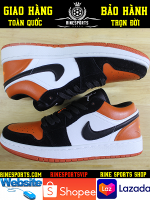 GIÀY SNEAKER NIKE Air Jordan 1 Low Shattered Backboard màu cam